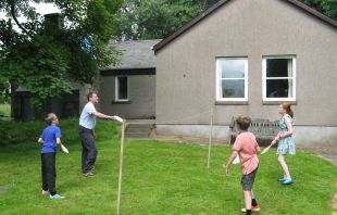 badminton in the garden